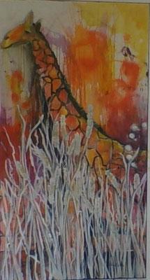 die Giraffe im Weizenfeld