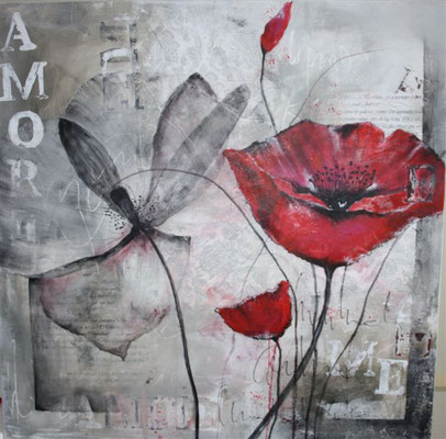 Mohn Amore, 90x90