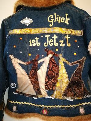 "Winter-Jeansjacke, ""Glück ist JETZT"""