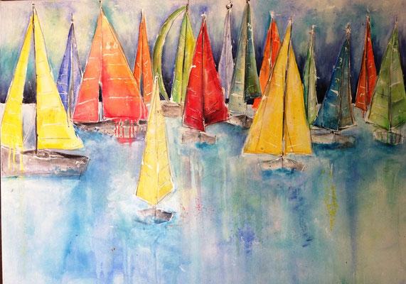 under full sails. 125x90