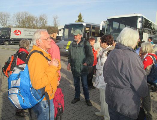 Buswechsel auf dem Betriebshof