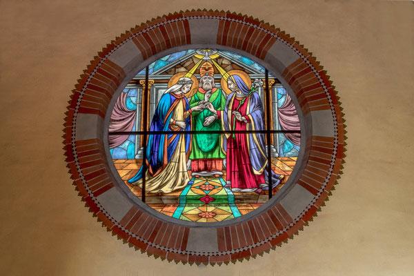 Rosone transetto laterale dello sposalizio di Maria