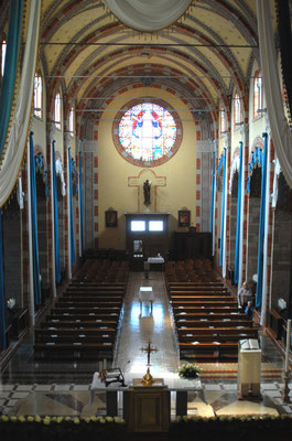 Interno del Santuario - Rosone di Santa Maria Assunta