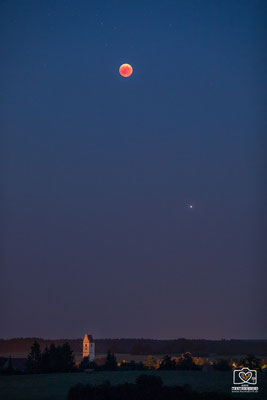 Blutmond und Mars über Wilsingen