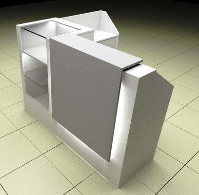 Mueble Recepción exhibidor Viña3