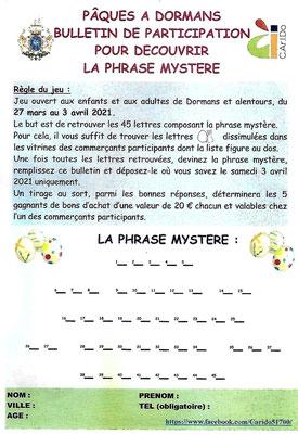 Phrase mystère à démasquer