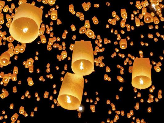 Lâcher de lanternes pour les enfants