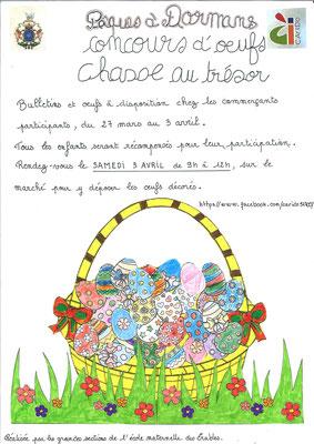 Concours de décoration d'œufs pour les enfants