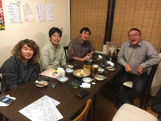 疋田さんとの飲み会 Mar2018