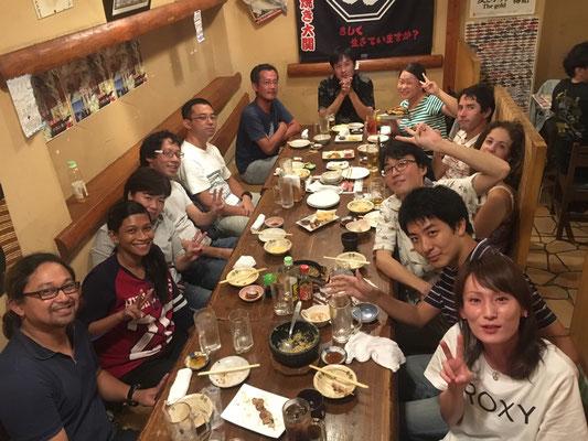 Sutraさん藤本くん飲み会 September2016
