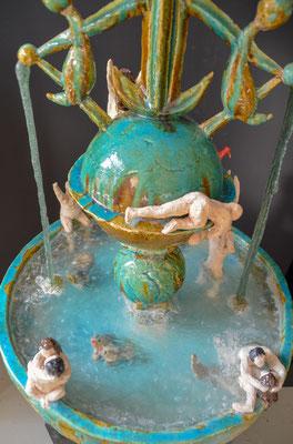 Keramiek & glas 55x68x55 cm (bxhxd)