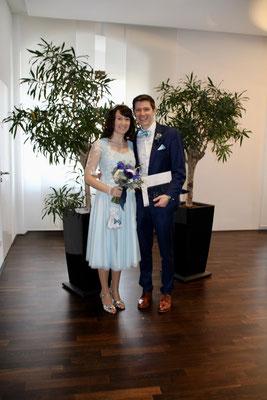 HochzeitsKleid & Fliege/Einstecktuch genäht