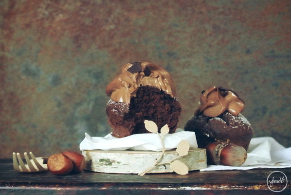 Schokoladen Cupcakes mit Nutella Frosting
