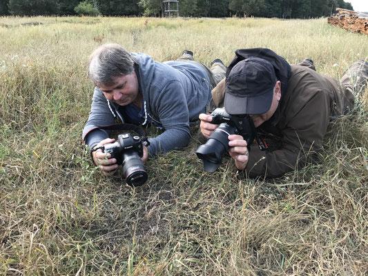 Roni und Uli beim Tarantel-Shooting