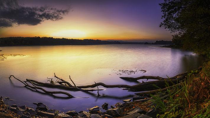 Sonnenaufgang Dreifelderweiher