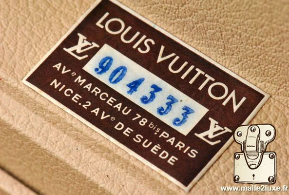 old Louis Vuitton trunk label marceau