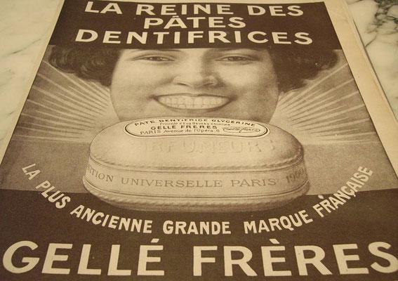 Publicité de 1916