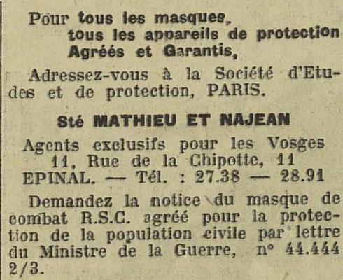 Journal l'Express de l'Est 12 février 1935