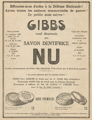 Publicité de 1917