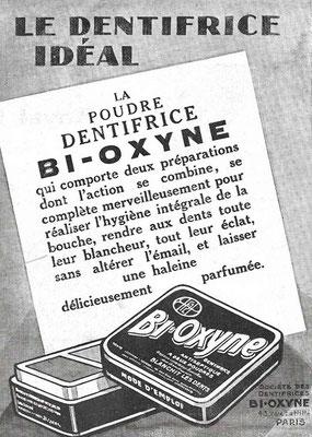 Dentifrice Bi-Oxyne - 14 juillet 1928