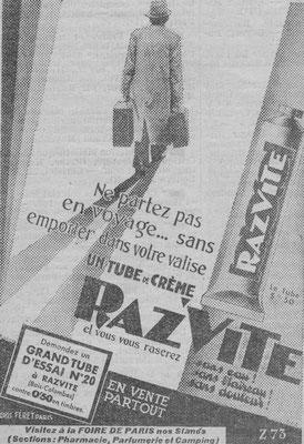 Crème Razvite  - magazine Chasseur français de juin 1934