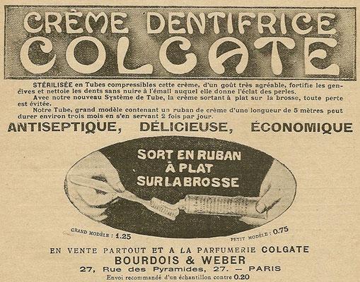 Publicité de 1911