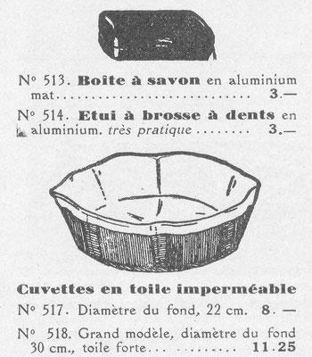 """Catalogue 1939 """"aux éclaireurs"""""""