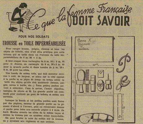 Journal le Lorrain 7 février 1940