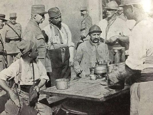 Gamelle 1852 au cours de la première guerre mondiale