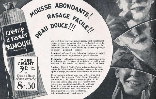 Crème à raser Palmolive - magazine l'Illustration du 19 mai 1934