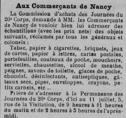 Journal de la Meurthe et des Vosges - 8 juillet 1915