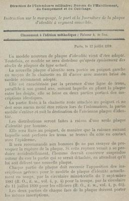 Extrait du bulletin officiel du Ministère de la guerre, {...} de l'armement et des fabrications de guerre du 12 juillet 1918