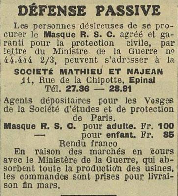 Journal l'Express de l'Est 17 février 1935
