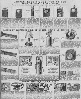"""Extrait du catalogue de la """"manufacture française d'armes et cycles de Saint-Étienne"""" de 1937"""