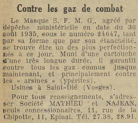Journal l'Express de l'Est 4 octobre 1935