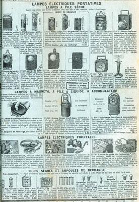 """Extrait du catalogue de la """"manufacture française d'armes et cycles de Saint-Étienne"""" de 1935"""
