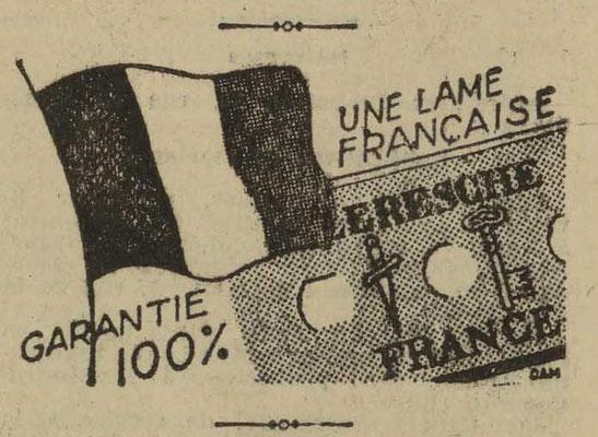 Lames de rasoir Leresche - journal l'Est Républicain du 24 mai 1937