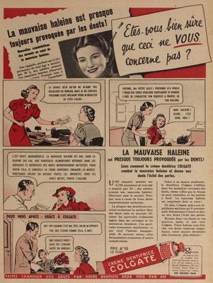 Dentifrice Colgate - magazine Marie-Claire du 22 mars 1940