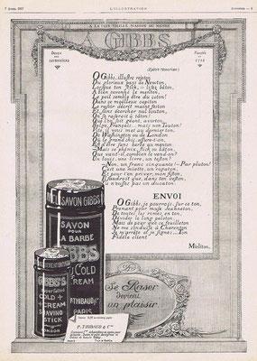 Publicité d'avril 1917