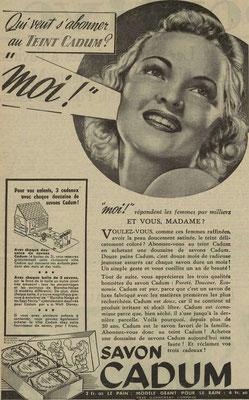 Savon Cadum - journal l'Est Républicain du 21 août 1939