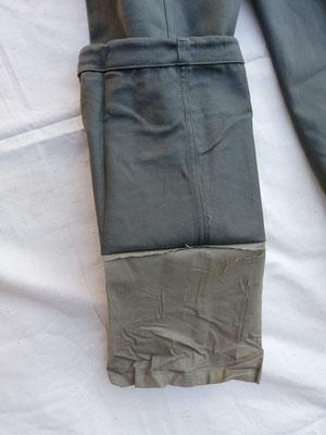 Vue de la doublure en bas des jambes