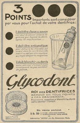 Publicité de 1919