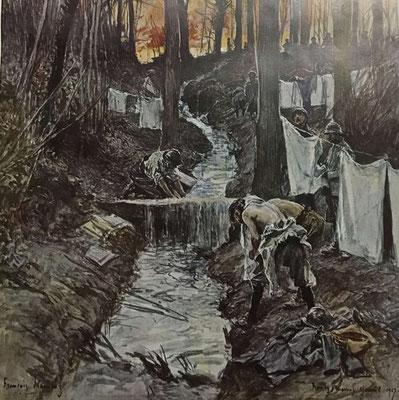 Avril 1917, la toilette du soldat