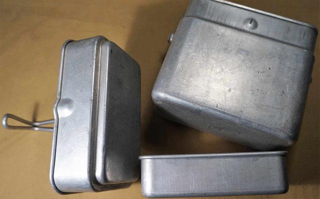 Les 3 récipients de la gamelle française modèle 1935