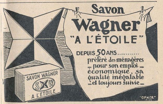 Savon Wagner - magazine der Sonntag du 15 janvier 1938