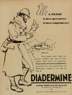 Crème Diadermine - magazine Marie-Claire du 29 décembre 1939