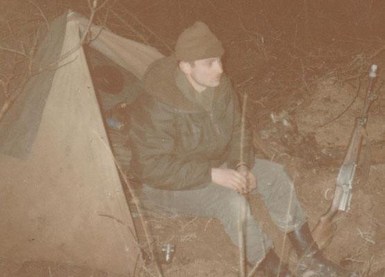 Tente modèle 1951 au camp de Mailly en 1984