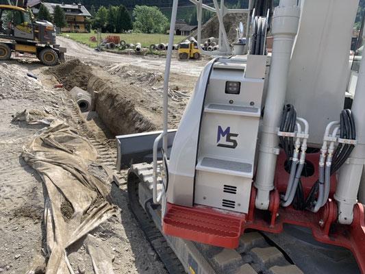Infrastruktur Leitungen Rohre verlegen Erbau Erdbewegung Schachner