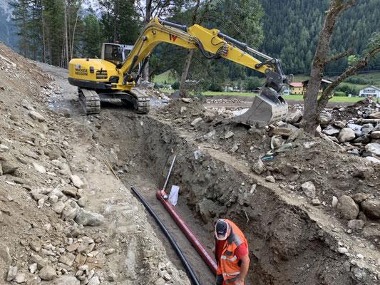 Künetten Schächte Rohrleitungen Kanalbau Leitungsbau Lienz Spittal Erdarbeiten