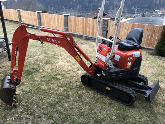 Gartengestaltung in Flattach mit dem Microbagger